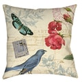 Memories VII Butterfly 19-inch Throw Pillow