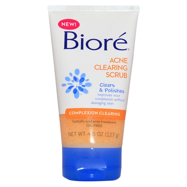 Biore Acne Clearing 4.5-ounce Face Scrub