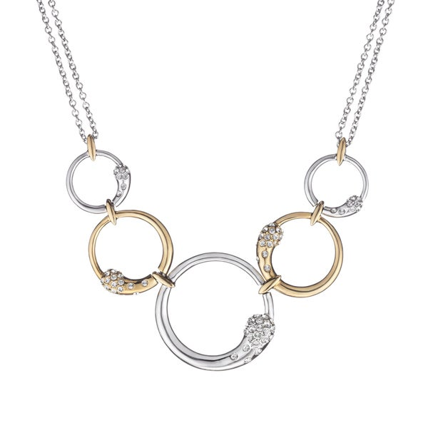 Classic Quintuple Circle Crystal Necklace