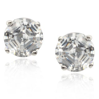 Tressa Collection Sterling Silver Cubic Zirconia Stud Earrings (6 mm)