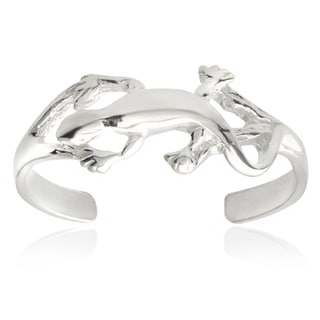 Tressa Collection Sterling Silver Adjustable Lizard Toe Ring