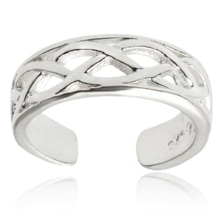 Tressa Collection Sterling Silver Adjustable Celtic Toe Ring