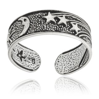 Tressa Collection Sterling Silver Oxidized Sun Moon Star Toe Ring