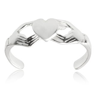 Tressa Collection Sterling Silver Adjustable Fenian Claddagh Toe Ring