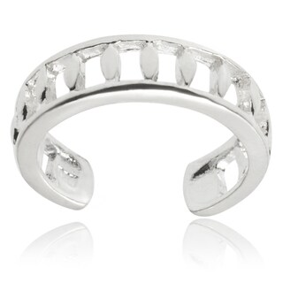Tressa Collection Sterling Silver Adjustable Cut-out Toe Ring