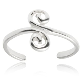 Tressa Collection Sterling Silver Adjustable Swirl Toe Ring