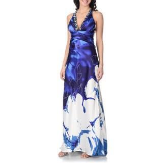 Cachet Women's Floral Print Gown