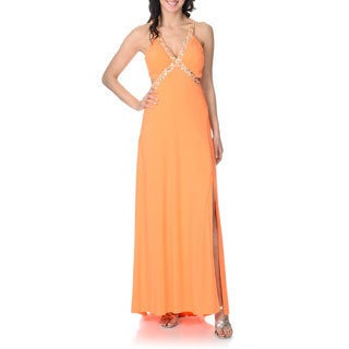 Cachet Women's Open Back Gown