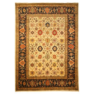 Hand-knotted EORC Super Mahal Ivory Wool Rug (8' x 10')