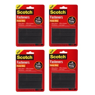 3M Scotch Black All-weather Fasteners (Pack of 4)