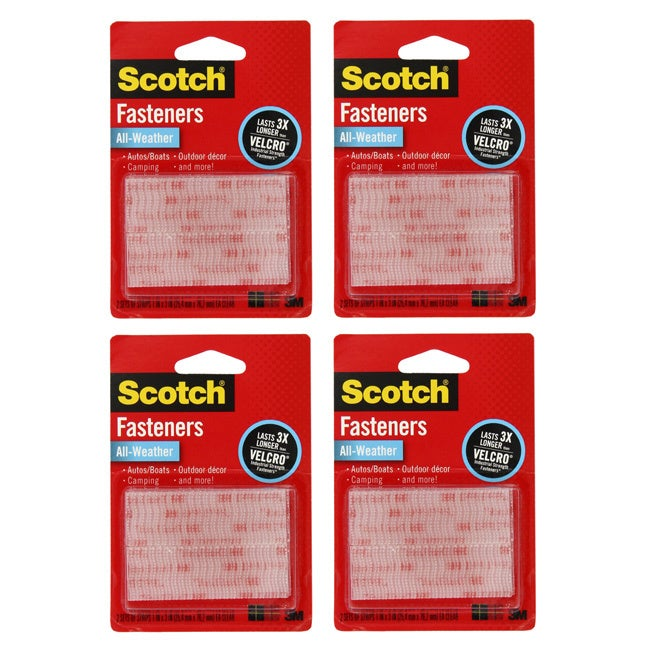 3M Scotch All-Weather Clear Fastener Strips (Pack of 4) at Sears.com