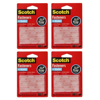 3M Scotch All-Weather Clear Fastener Strips (Pack of 4)