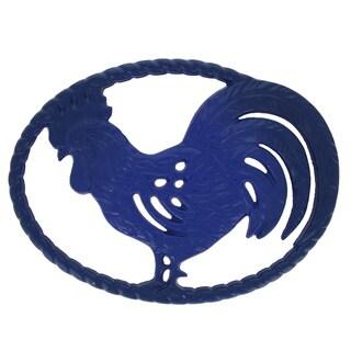 Chasseur Blue Cast Iron Rooster Trivet
