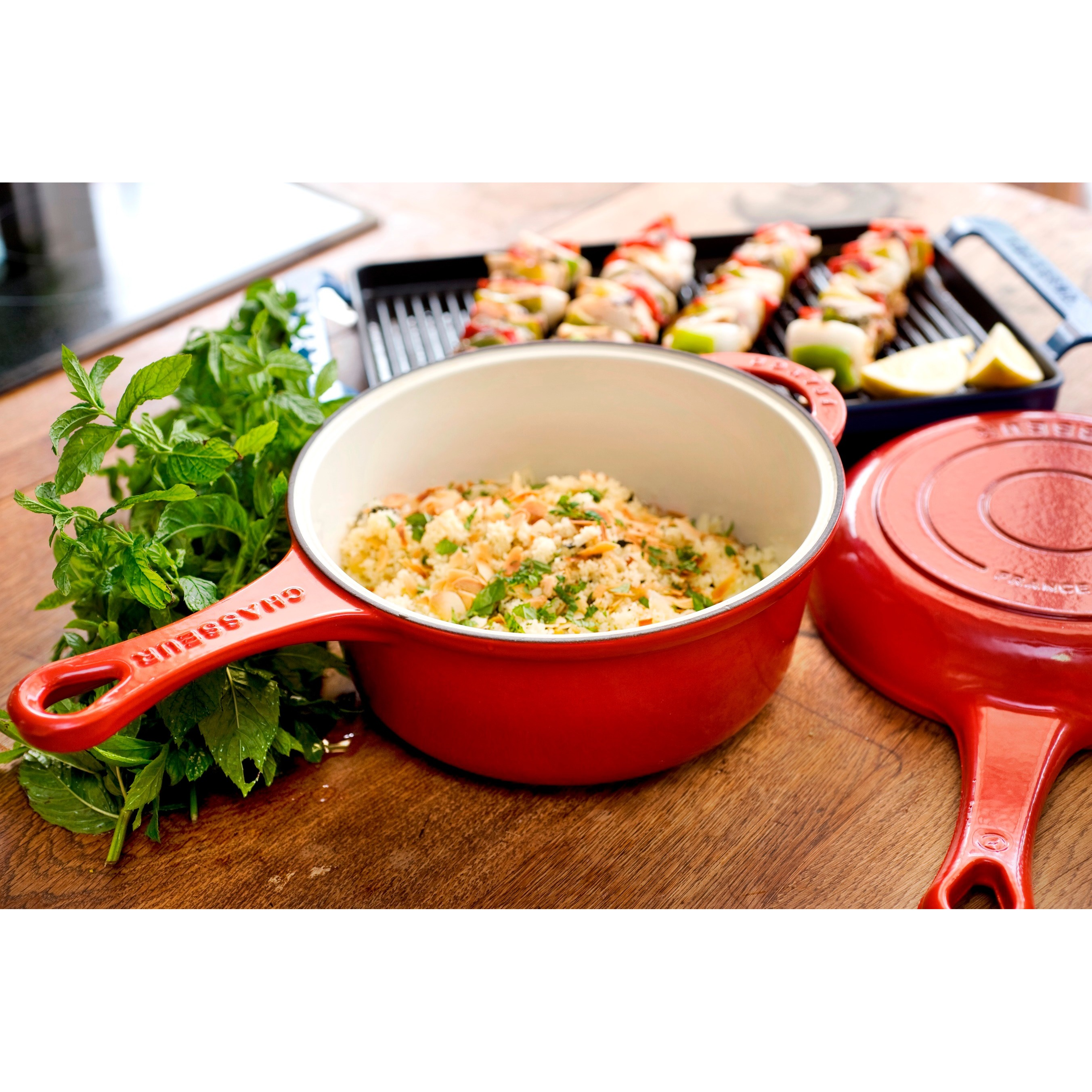 Chasseur 3-quart French Red Cast Iron Combi-Cook Sauce Pan at Sears.com