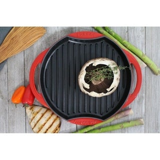 Chasseur 'Sun' French Flame Red Cast Iron Grill Pan