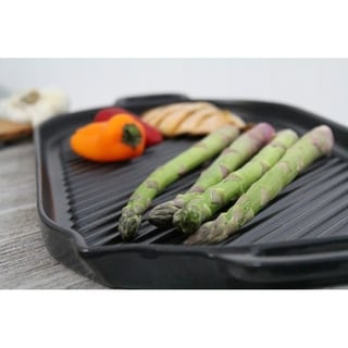 Chasseur Large Black Oval French Cast Iron Grill
