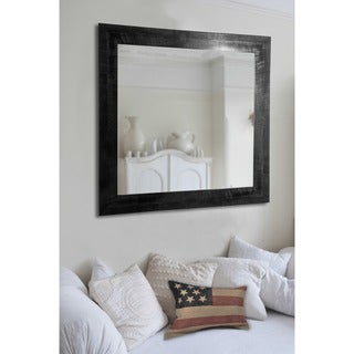 American Made Rayne Black/Grey Grain Wall Mirror