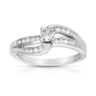 Eloquence 10k White Gold 1/2ct TDW Diamond Engagement Ring (H-I, I2-I3)