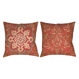 Golden Medallion 19-inch Decorative Pillow