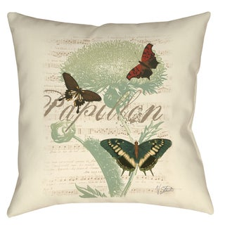 Papillon Melange Butterfly Trio 19-inch Throw Pillow