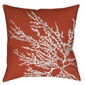 Coastal Coral 19-inch Decorative Pillow