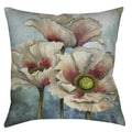 Poppies Over Blue 19-inch Decorative Pillow