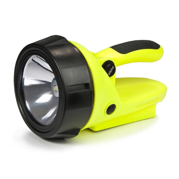 Yellow Hybrid Light Solar Spotlight