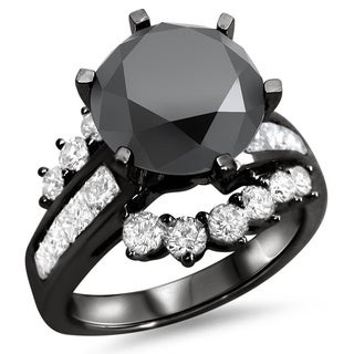 14k Black Gold 4 1/2ct TDW Diamond Engagement Ring (VS1-VS2)