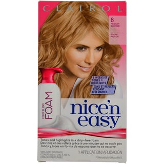 Clairol Nice 'n Easy Color Blend Foam 8 Medium Blonde Hair Color