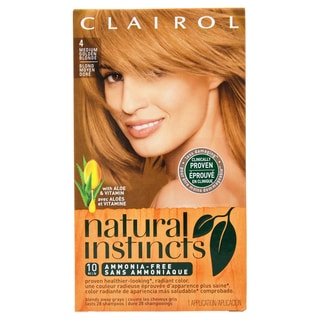 Clairol Natural Instincts Sunflower Medium Golden Blond 04 Hair Color
