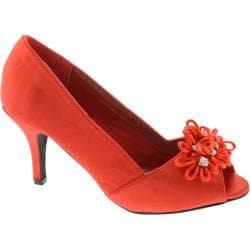 Women's Annie Ciel Red Satin