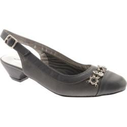 Women's Annie Dolores Pewter Satin/Pewter Smooth