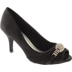 Women's Annie Larissa Black Satin
