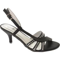 Women's Annie Link Black Satin