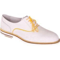 Men's Giovanni Marquez 8837 Roadstar White/Yellow Leather