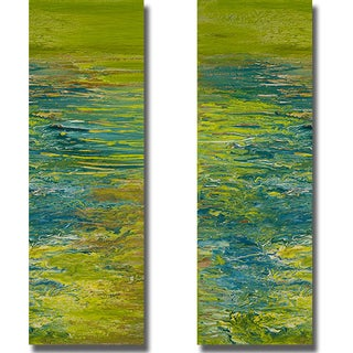 Roberto Gonzales 'The Lake I and II' 2-piece Canvas Set