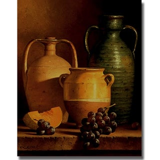 Loran Speck 'Jugs on a Ledge' Canvas Art