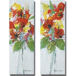Natasha Barnes 'Sensations I and II' 2-piece Canvas Set