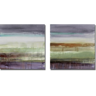 Lanie Loreth 'Purple Rain I and II' 2-piece Canvas Art Set