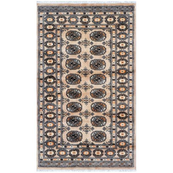 Herat Oriental Pakistani Hand-knotted Bokhara Beige/ Ivory Wool Rug (3'1 x 5'1)