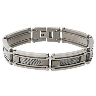 Vance Co. Men's Titanium Mesh Link Bracelet
