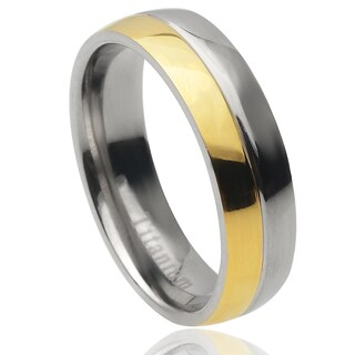 Vance Co. Men's Two-tone Titanium Band