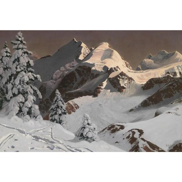 Winter Mountain' Oil on Canvas Art