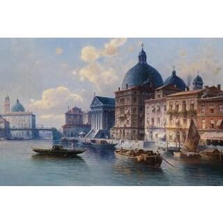 Karl Kaufmann 'Venice San Simeone' Oil on Canvas Art