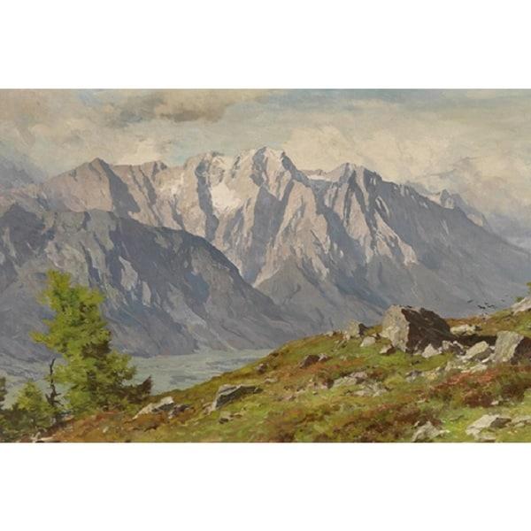 Sunrise in the Mountain' Oil on Canvas Art 12851918