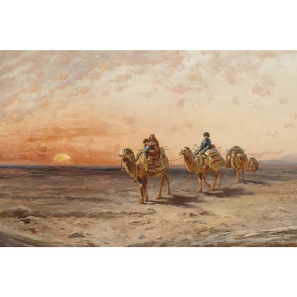 The Camel Riders' Oil on Canvas Art