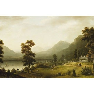 Francis Guy 'Carter's Tavern At The Head Of Lake George' Oil on Canvas Art