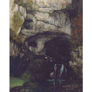 Waterfall in the Cave' Oil on Canvas Art