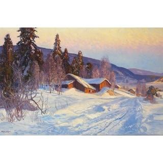 Snow Valley' Oil on Canvas Art