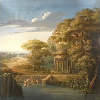 Bathing' Oil on Canvas Art
